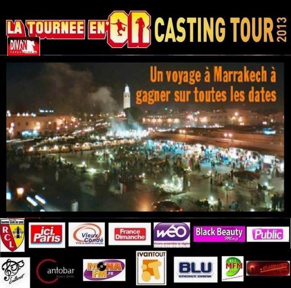 La Tournee En Or Casting Tour radiojetstar partenaire de cet evenement