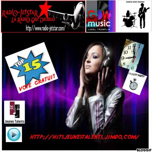 Top15 du  21 mai 2013 9h00 au  02 juin  2013 midi  inclus