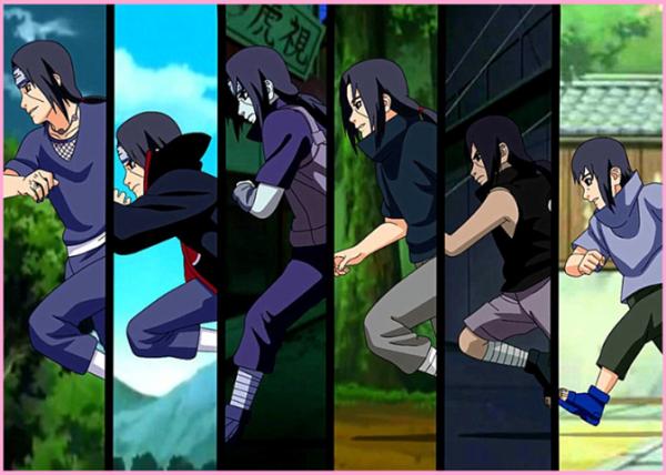 Evolution des personnages de naruto.