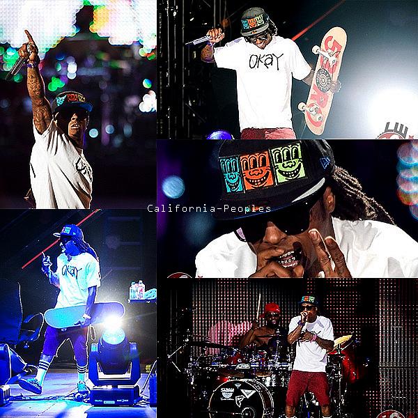 """Weezy étaità Englewood, au Colorado pour son """" I am still music Tour """" le 30 août."""