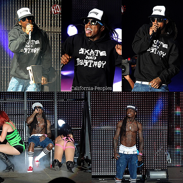 "Lil Wayne performants à Mountain View, en Californie, à l'Amphithéâtre Shoreline le 2 Septembre pour une partie de la "" I Am Still Music Tour ""."