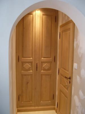 Habillage d 39 interieur et porte interieur vive le bois - Habillage interieur porte d entree ...