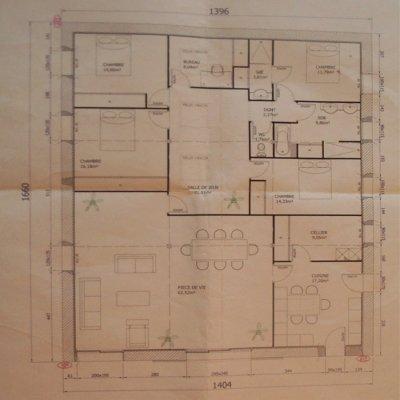 Plan de la grange renovation grange - Plan renovation maison ...