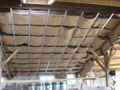 Laine de verre renovation grange for Pose laine de verre