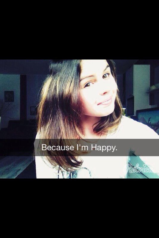 "La joie. "" Because I'm Happy."""