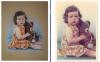 Portrait d'une petite fille avec son nounours