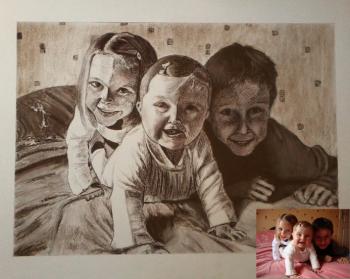 Portrait d'une famille de petits enfants