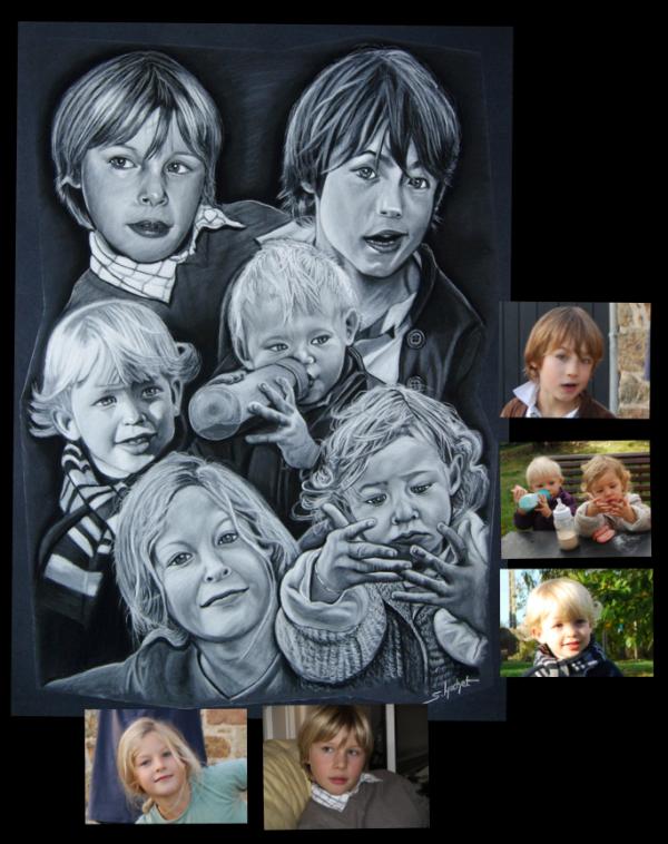 Portrait de 6 enfants