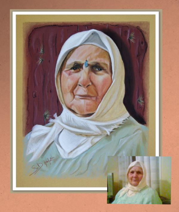 Une femme en Djellaba