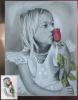 Portrait Pierre noire/couleurs de Fiona