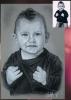 Portrait pierre noire d'un petit garçon