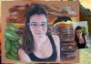 Portrait Pastels couleurs d'Alicia