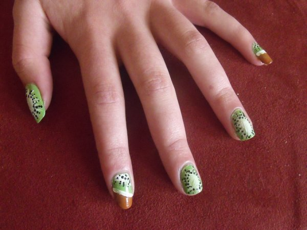Nail art fruités :)