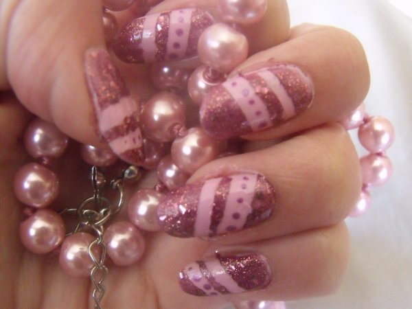 Nouveau nail art au scotch !