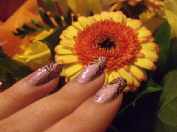 Nail art vernis holographique !