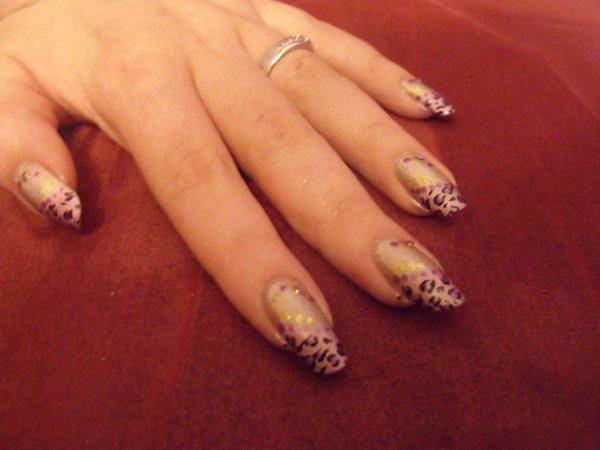 Nail art léopard !
