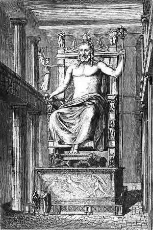 Savez vous quand à été construite la statue de Zeus?