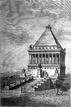 Qui repose dans le mausolée d'Halicarnasse, une des sept merveilles du monde?