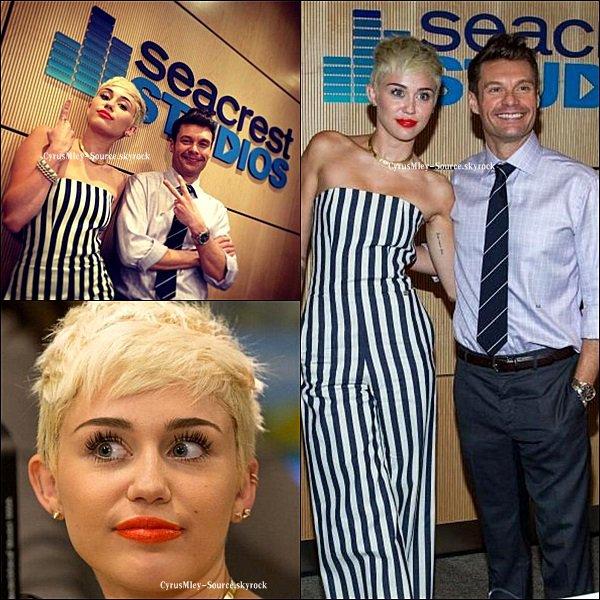 Miley chez Ryan Seacrest !