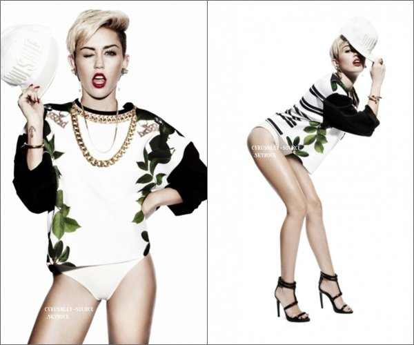 Photoshoot de Miley pour Damien Fry (Londres).