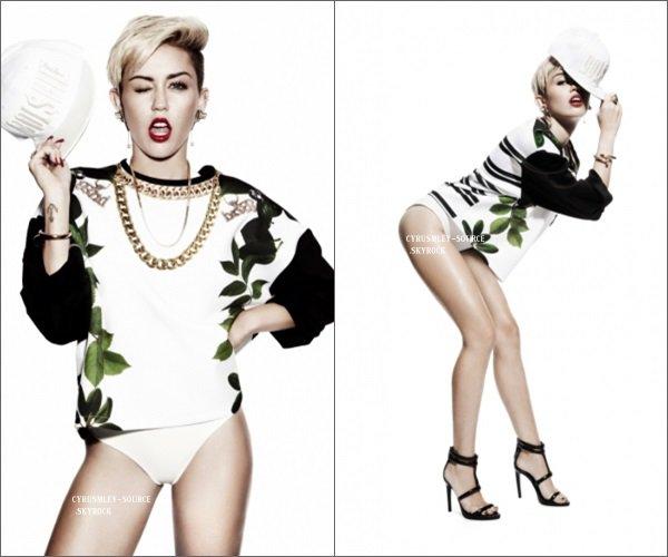 Photoshoot de Miley pour Damien Fry (Londres).