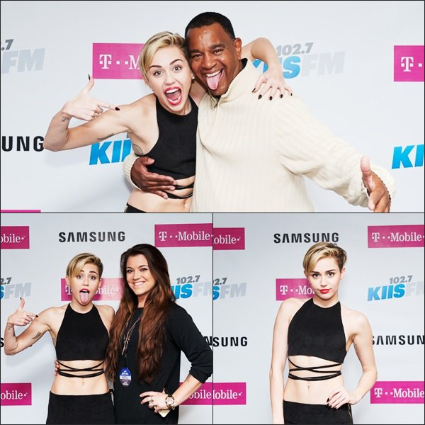 Miley au Kiis Fm's Jingle Ball, à Los Angeles (Meet & Greet)