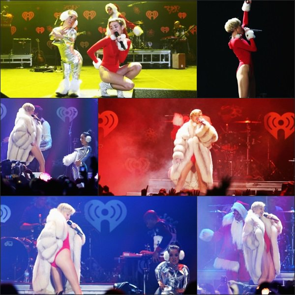Miley performant durant le 101.3 KDWB's Jingle Ball, à Saint Paul.