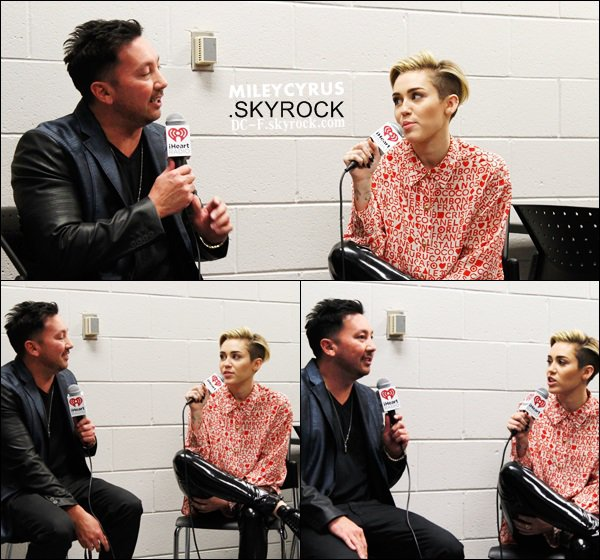 11/12/13 : Miley interviewé au Power 96.1's Jingle Ball.