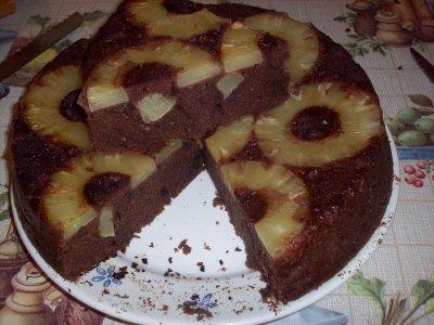 Gateau au ananas et chocolat