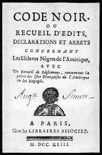 CODE NOIR DE 1685 VERSION ORIGINAL !!