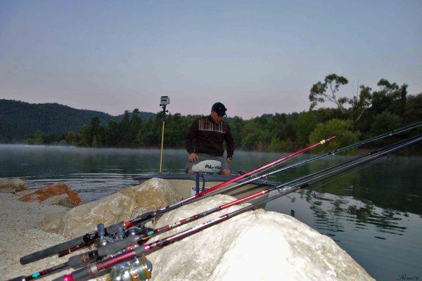 Petite journée pêche carnassier et pique-nique en famille pour le premier jour de juillet