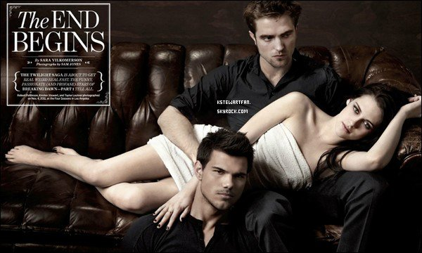 . 17/11/2011 : Scans/Shoot de Kristen, Robert  et Taylor dans Entertainment Weekly. .