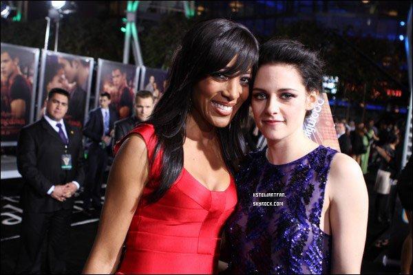 . 17/11/2011 : Encore de nouvelles photos/Interviews des avant première de BD Part.1 de Kristen posant avec Rob et des journalistes. .