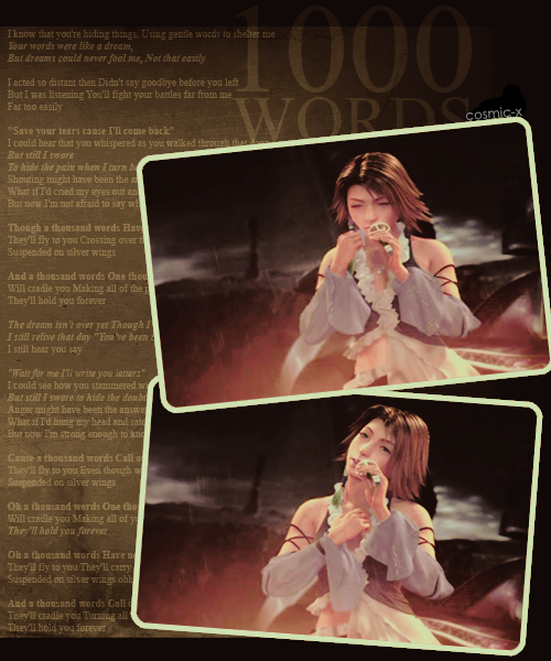 FFX-2 ~Insert Song~ : 1000 words {1000 no kotoba}