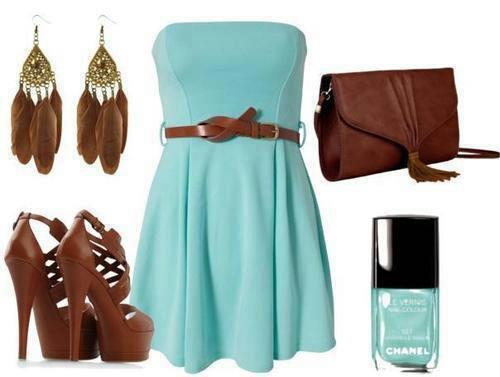 Look #2  Bleu & Camel By Mode dhe Make up (Facebook)