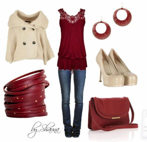 Look #5 Tenue Bordeaux. (: