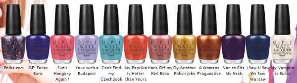 Nouvelle collection Euro Centrale by OPI