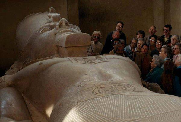 Ramses II at Memphis museum.