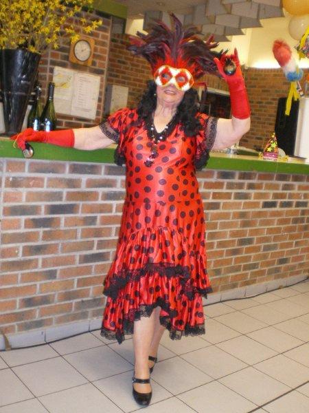 ma maman à la fête de son club