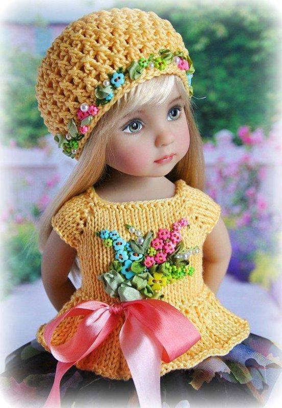 Bon mardi soir à vous avec ces belles poupées habillées de fleurs :)