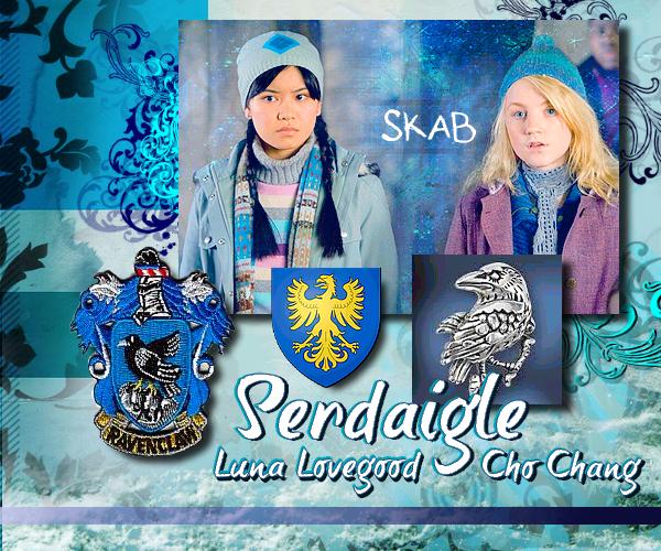 Serdaigle : Cho Chang et Luna Lovegood