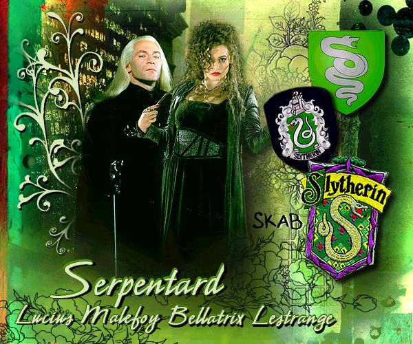 Serpentard : Bellatrix Lestrange et Lucius Malefoy