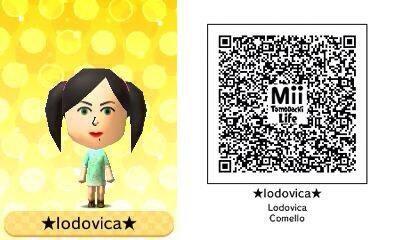 Qr code Tomodachi Life 3DS de Lodovica