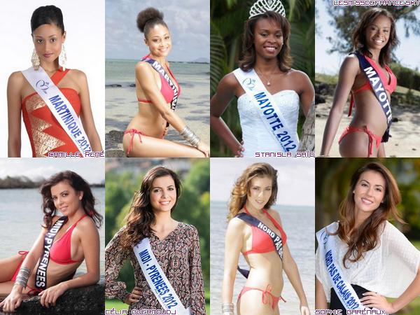 Candidates à Miss France 2013