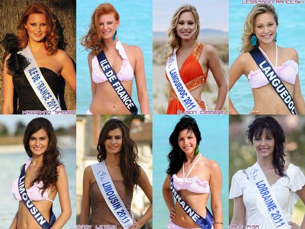 Candidates à Miss France 2012