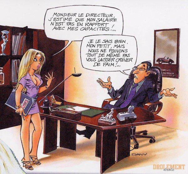 Une blonde demande une augmentation à son boss !