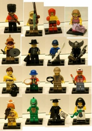 Collectable MINIFIGURE série 4 et 5