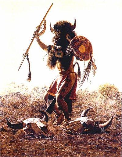 Peaux de bison