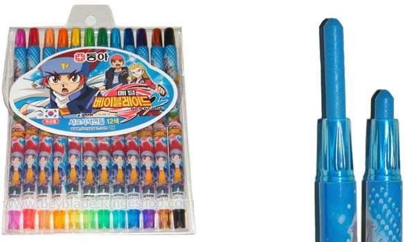 Boite de 12 crayons de coloriage Beyblade