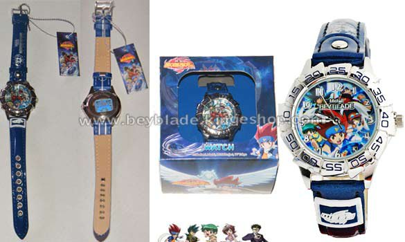 Montre enfant Beyblade illustration Gingka, Kyuya, Benkei, Kenta et Madok